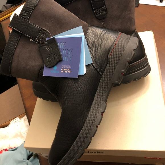 clarks black sandals heels, clarks ryerson rise men's black